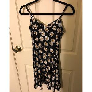 Sunflower black skater dress